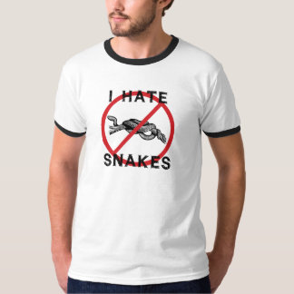 Odio serpientes playera