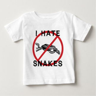Odio serpientes playera de bebé