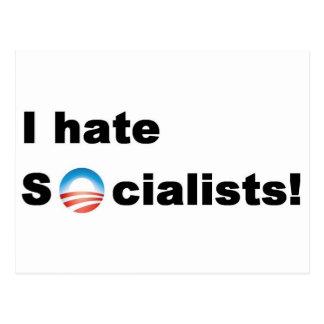 Odio socialistas tarjeta postal