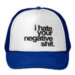 odio su negatividad gorros bordados