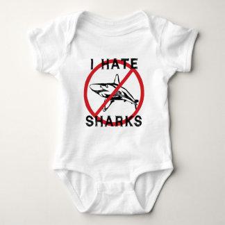Odio tiburones body para bebé