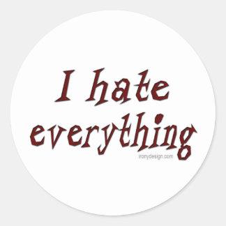 Odio todo pegatina
