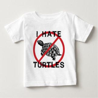 Odio tortugas playera de bebé