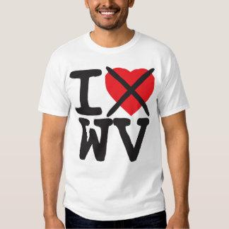Odio WV - Virginia Occidental Playeras