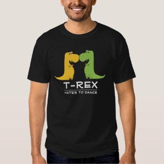 Odios de TRex para bailar la camiseta divertida Camisas