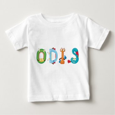 Beach Themed Odis Baby T-Shirt
