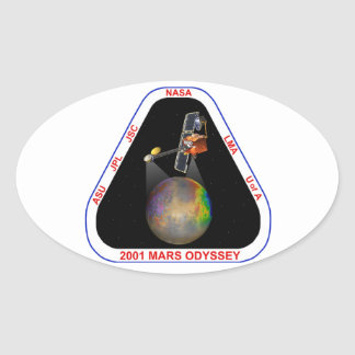 Odisea 2001 de Marte Calcomania De Óval Personalizadas
