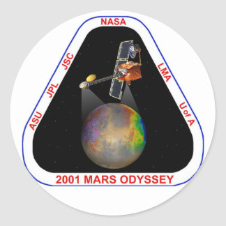Odisea 2001 de Marte Pegatina Redonda