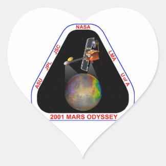 Odisea 2001 de Marte Pegatina En Forma De Corazón