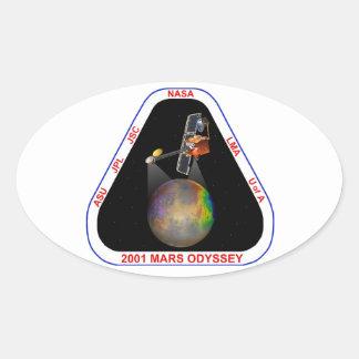 Odisea 2001 de Marte Pegatina Ovalada