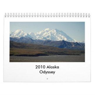 Odisea 2010 de Alaska Calendario
