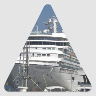 Odisea de Seabourn del barco de cruceros Pegatina Triangular