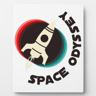 Odisea del espacio placa para mostrar