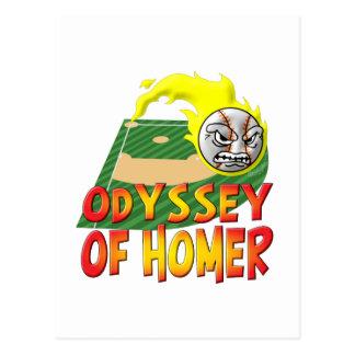 Odisea del home run tarjetas postales
