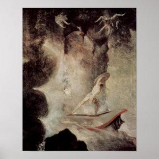 Odiseo delante de Scylla y de Charybdis Poster