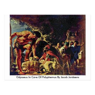 Odiseo en la cueva de Polyphemus de Jacob Jordaens Postales