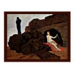 Odiseo y Calypso de Böcklin Arnold Postal