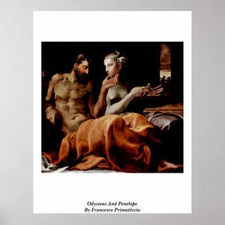 Odiseo y Penélope de Francesco Primaticcio Poster