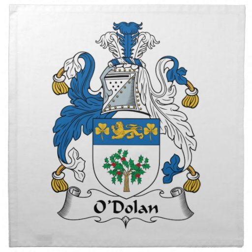 O'Dolan Family Crest Cloth Napkins