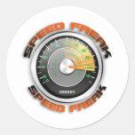 Odómetro anormal de la velocidad pegatinas