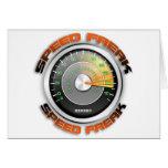 Odómetro anormal de la velocidad tarjeta