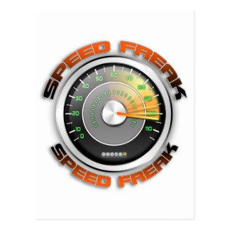 Odómetro anormal de la velocidad tarjeta postal