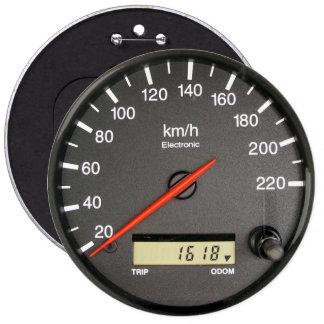 Odómetro COLOSAL del velocímetro, botones de los p Pins