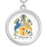 O'Donnell Family Crest Round Pendant Necklace