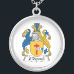 """O&#39;Donnell Family Crest Silver Plated Necklace<br><div class=""""desc"""">O&#39;Donnell Coat of Arms</div>"""