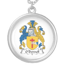 O'Donnell Family Crest Silver Plated Necklace