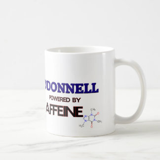 Odonnell powered by caffeine classic white coffee mug