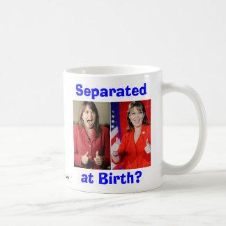O'Donnell y Palin: ¿Separado en el nacimiento? Taza Básica Blanca