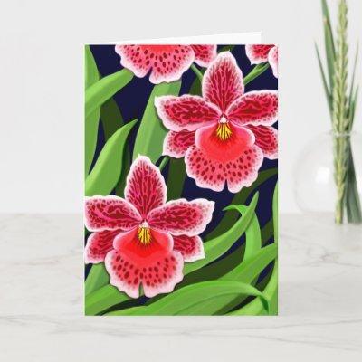 Odontoglossum Orchid Flowers Card $ 3.85