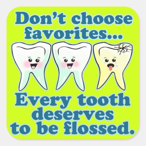 Odontología del higienista dental del dentista pegatina cuadrada