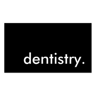 odontología plantilla de tarjeta de visita