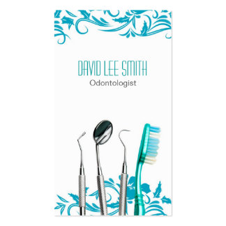 Odontologist Business Card Tarjeta De Visita