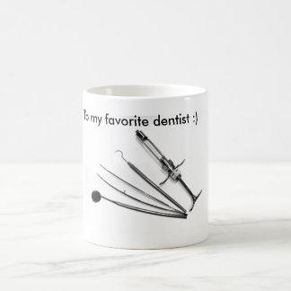 Odontologist, dentist, cup