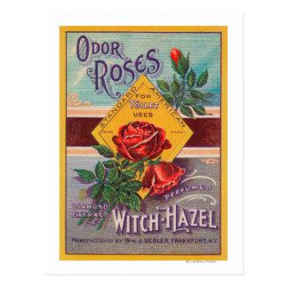 Odor Roses Witch-Hazel LabelFrankfort, NY Postcard