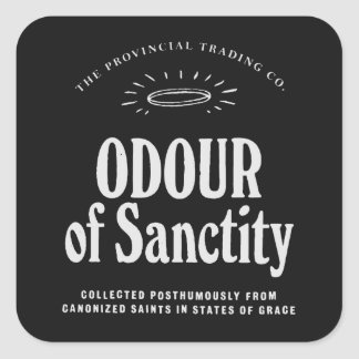 Odour of Sanctity - apothecary label Square Stickers