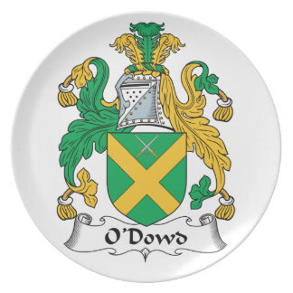 O'Dowd Family Crest Dinner Plates