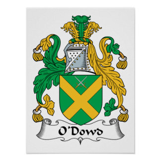 O'Dowd Family Crest Poster