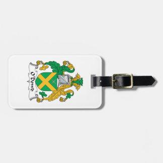 O'Dowd Family Crest Travel Bag Tags
