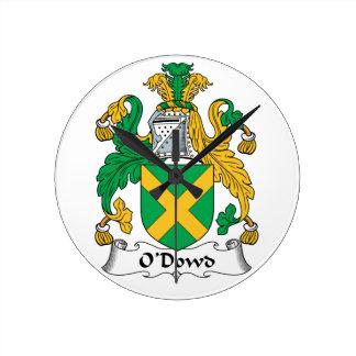 O'Dowd Family Crest Wallclock