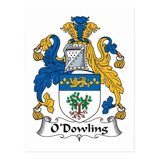 O'Dowling Family Crest Postcard