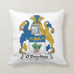 O'Dowling Family Crest Throw Pillow
