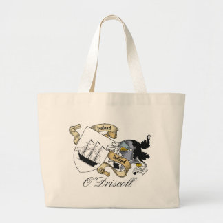 O'Driscoll Family Crest Large Tote Bag