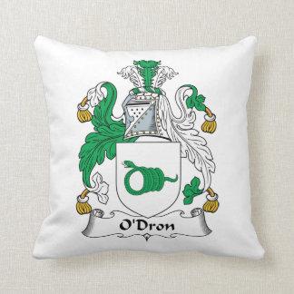 O'Dron Family Crest Throw Pillows