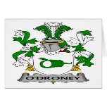 O'Droney Family Crest Card