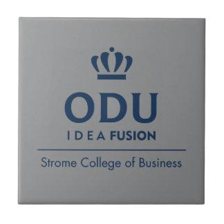 ODU Stacked Logo - Blue Ceramic Tile