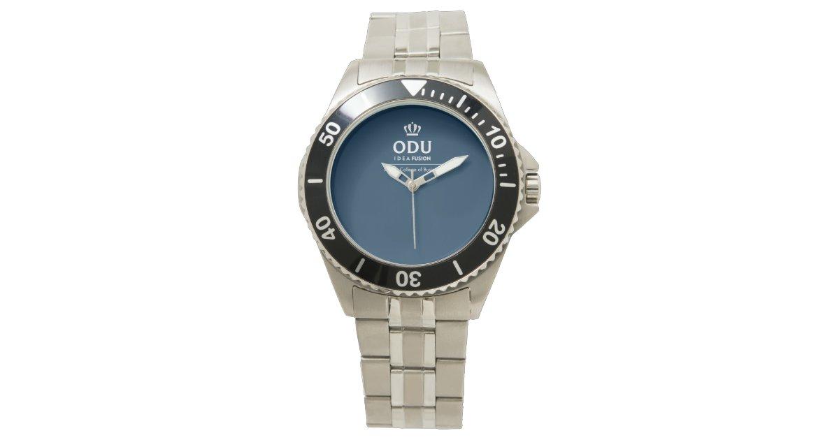 ODU Stacked Logo Wrist Watch | Zazzle.com